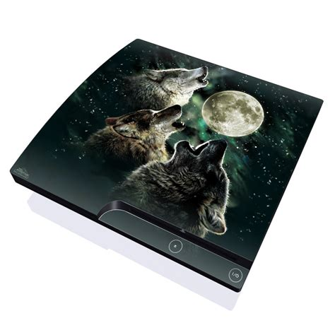 Skin Playstation 3ps3 Custom three wolf moon playstation 3 slim skin covers sony playstation 3 for custom style and protection