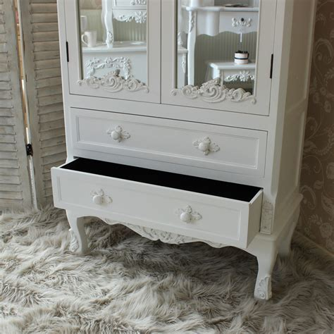 antique white painted ornate mirror shabby french chic furniture shelf drawer ebay