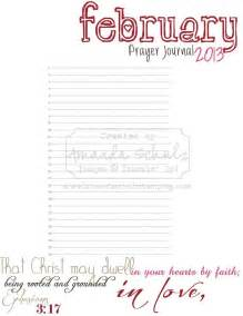 february prayer journal page free printable prayer