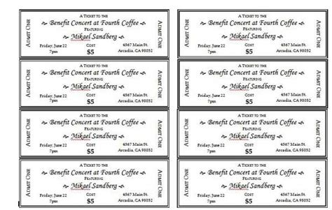 Event Ticket Templates 1 Templates Pinte Free Printable Event Ticket Template