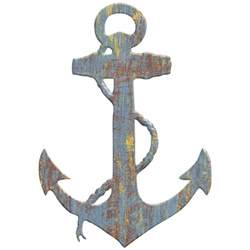 Anchor Wall Decor by Anchor Wood Look Cut Out Wall Decal Rustic Nautical