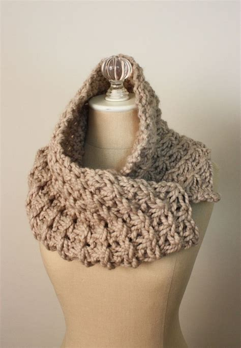 knit cowl cowl pattern knitting pattern chunky oversized
