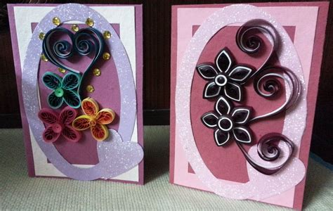 Designs For Greeting Cards With Handmade Paper - handmade quilled greeting cards for special occasions