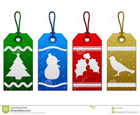 christmas tags royalty  stock  image
