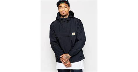 Hoodie Zipper Hair 313 Clothing carhartt nimbus overhead jacket in black for lyst