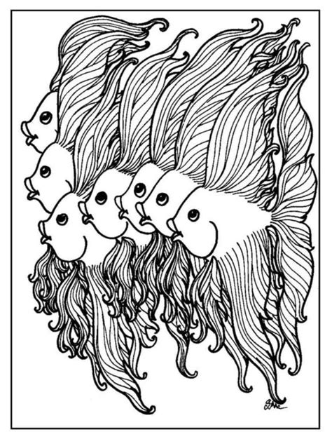 coloring pages of fish for adults coloring pages sweet fish coloring pages for adults 101