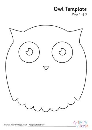 Printable Owl Card Template by Owl Template 4