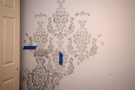 wall paint templates damask stencil wall for daughters bedroom how to nest