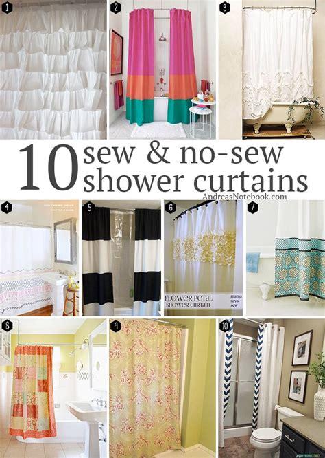 Shower Curtain Tutorial by 10 Sew No Sew Diy Shower Curtain Tutorials