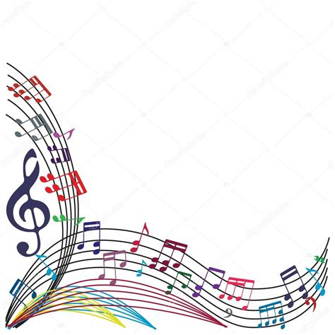 imagenes de marcos musicales music notes background stylish musical theme composition