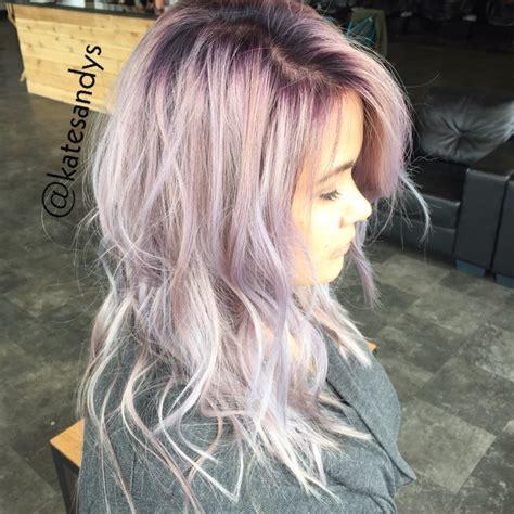 silver blonde root shadow hair ideas pinterest lavender silver hair with a purple root shadow hair