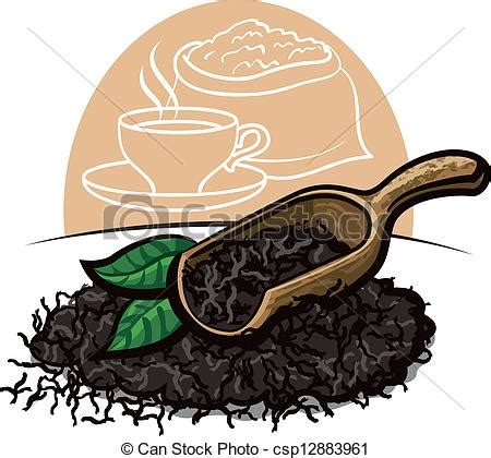 dry black tea leaves clip art vector search drawings and