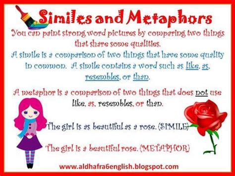 similes and metaphor