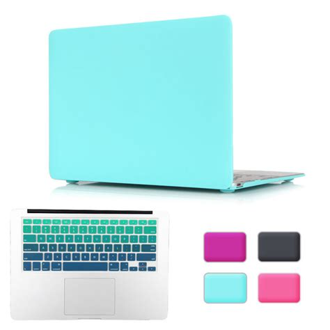 Gradient Keyboard Protection Aksesoris Macbook Mac Book Laptop rubberized matte casual style laptop cover for apple