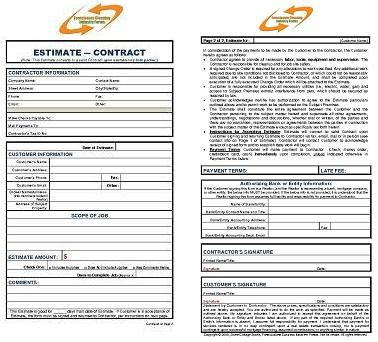 cleaning business estimate form foreclosure cleaning estimate contract form