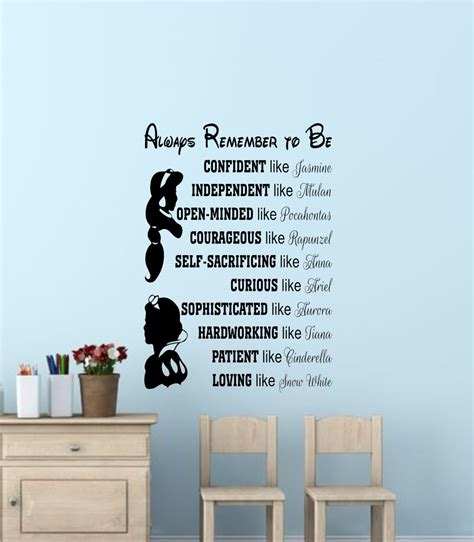 disney wall stickers disney princess wall quotes disney signs disney princess wall