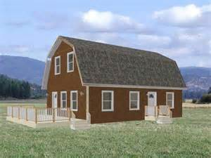 small gambrel loft cabin plans joy studio design gallery