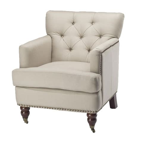 White Tufted Chair by Tufted Nailhead White Club Chair Furniture