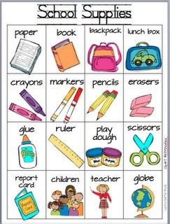 supplies for card 27 free preschool back to school lesson plans ideas for