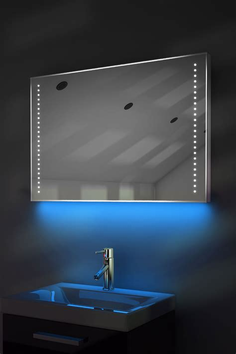 Led Bathroom Mirrors With Demister Ambient Ultra Slim Led Bathroom Mirror With Demister Pad Sensor K61 Ebay