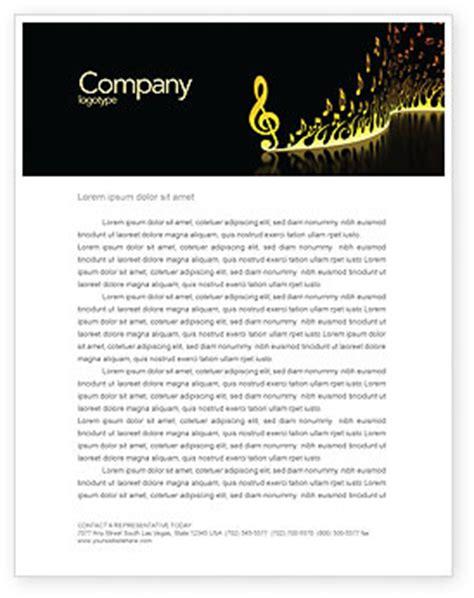 Modern Music Letterhead Template, Layout for Microsoft