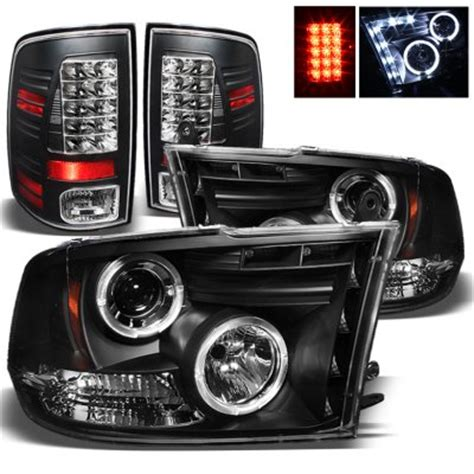 dodge ram 3500 2010 2014 black projector headlights and