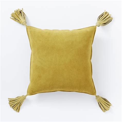 Tassels For Pillows by Suede Tassel Pillow Cover Velvet Gold West Elm