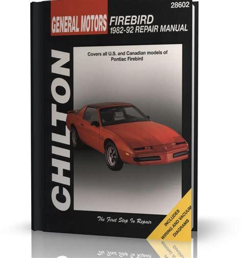 pontiac firebird 82 92 instrukcja chilton