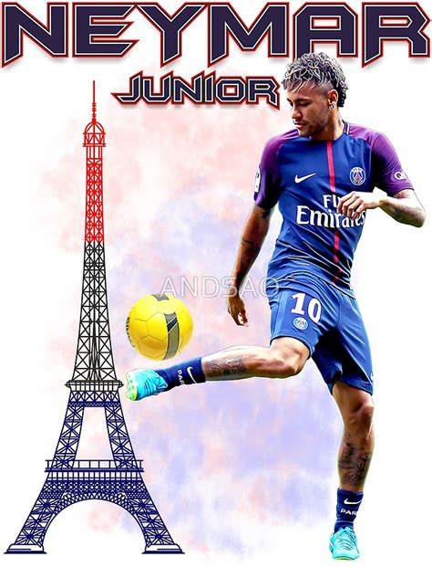 Large Wall Art Stickers quot neymar jr paris tshirt quot posters by andsao redbubble
