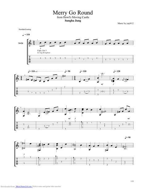 merry   guitar pro tab  sungha jung  musicnoteslibcom