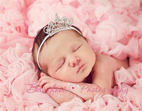 baby princess baby headband baby tiara headband clear infant tiara