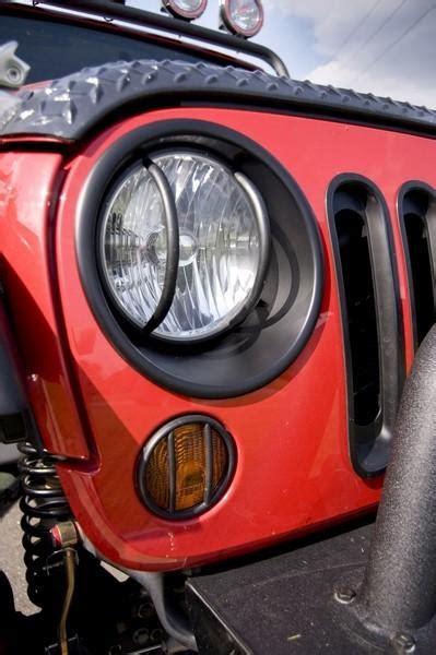 1997 Jeep Wrangler Headlights Pair Black Headlight Bezels Trim For 1997 2006 Jeep