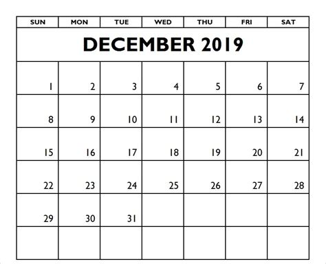 december  calendar template word excel