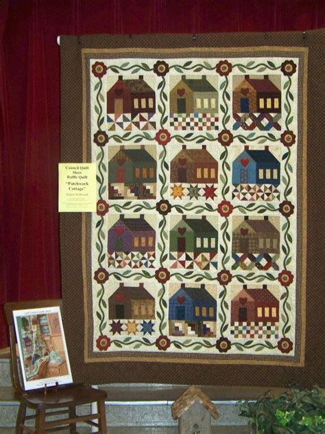 Cottage Patchwork - patchwork cottage house quilts