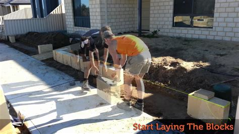 Concrete Planters how to lay limestone blocks youtube