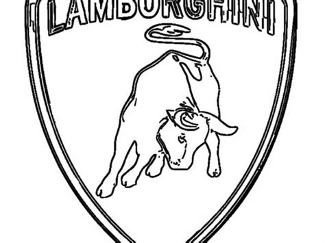 lamborghini logo sketch lamborghini logo coloring pages sketch coloring page