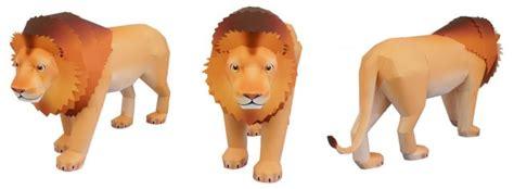 odigami de leon en 3d actividades manuales de le 243 n de papel 3d es hellokids com