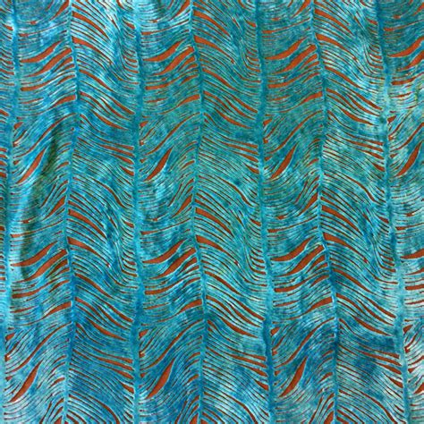peacock blue velvet upholstery fabric peacock plume luxurious cut velvet turquoise blue heavy