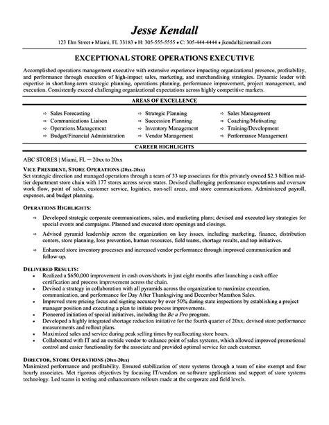 executive resume sles free sles exles