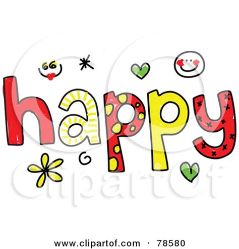 word clipart word happy clipart