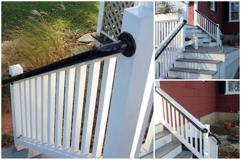 Outdoor Banister Railing by Easy To Install Outdoor Stair Railing