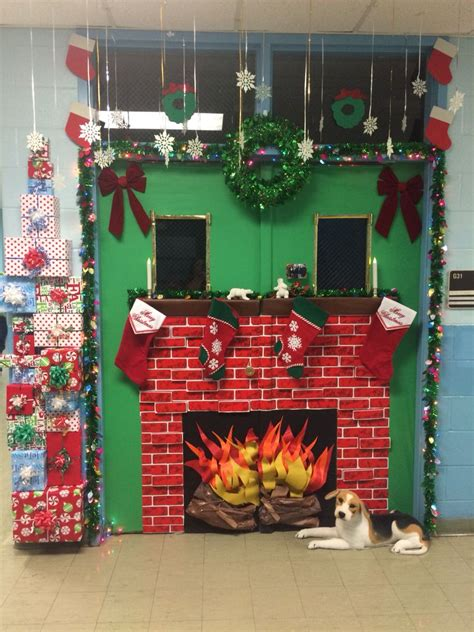 christmas school decoration classroom door decoration fireplace my crafts classroom