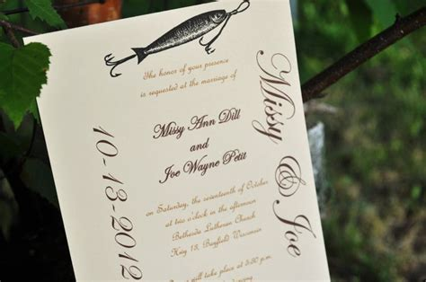 fish wedding invitations fishing wedding invitations fish wedding fall wedding