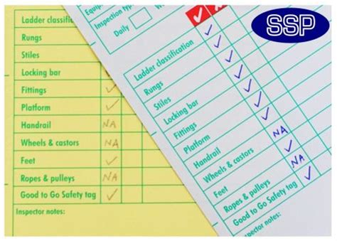 Daily Checks Cage Card Template by Ladder Inspection Checklist