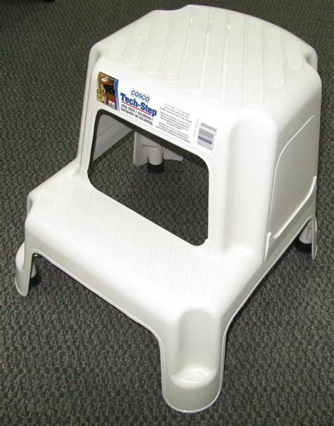 Cosco Two Step Stool by Cosco 11 911 Nat 2 Step Stool Sears Outlet