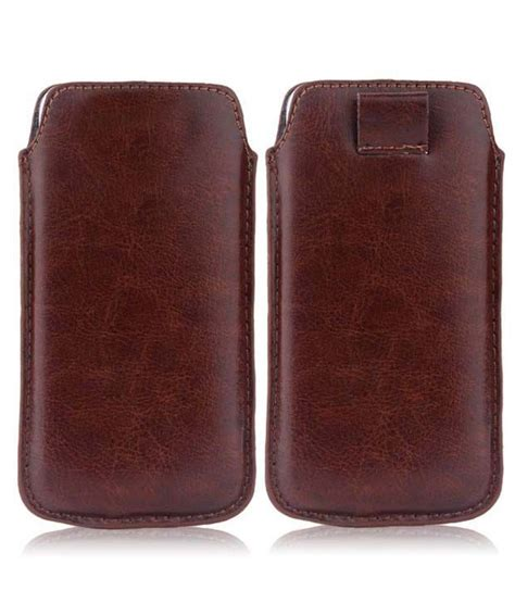 Rf Leather Lenovo A706 wow pu leather pull tab protective pouch for lenovo ideaphone a706 brown pouches at
