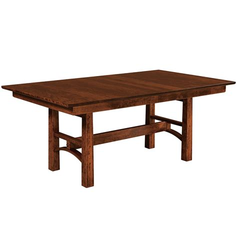 Trestle Dining Room Tables Santa Rosa Trestle Table Amish Dining Room Tables Cabinfield Furniture