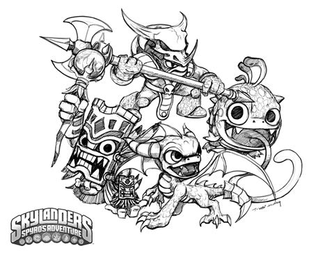 crabfu blog skylanders speed drawing coloring pages