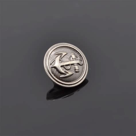 anchor pattern button up 10pcs antique metal shank buttons anchor pattern sewing