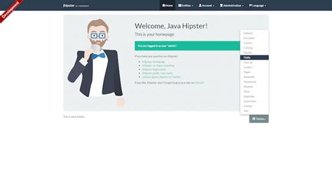 bootstrap themes npm generator jhipster bootswatch npm